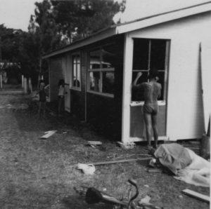 La construction de la Cabane de Lautrec, dans les années 60